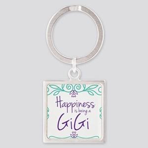 Happiness is being a GiGi Square Keychain